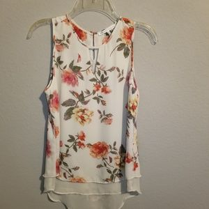 Violet + Claire | Floral Sleeveless Blouse